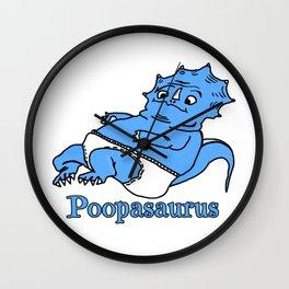 Poopasaurus Wall Clock