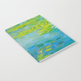 Claude Monet Impressionist Landscape Oil Painting Water Lilies Notebook