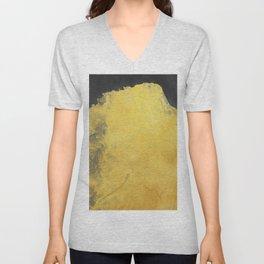 Minimal Landscape Black and Yellow 01 Unisex V-Neck