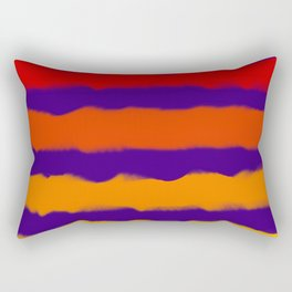 Sapphire Sunset Stripes Rectangular Pillow