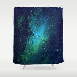 Vibrant Cortex Shower Curtain