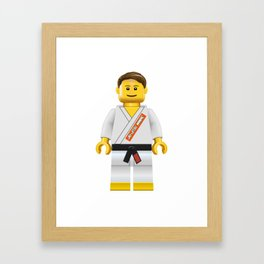 Jiu jitsu maniac Framed Art Print