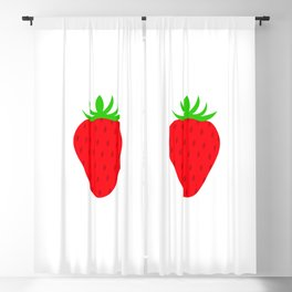 3 Strawberries Blackout Curtain