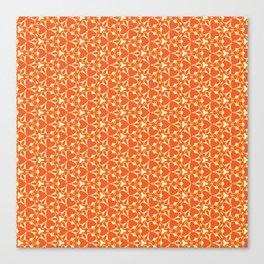 Bright Orange Geometrical Pattern Canvas Print