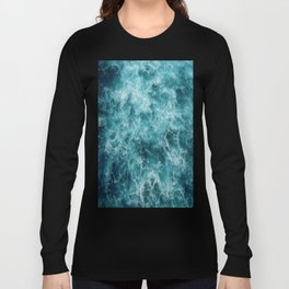 Blue Ocean Waves Long Sleeve T-shirt