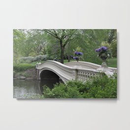 Bow Bridge Central Park New York Metal Print