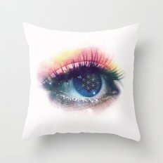 Flower Of Life (Cosmic Vision) Throw Pillow