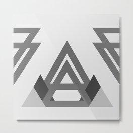 Abstract geometric line design Metal Print