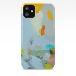 pink hill with sun ray iPhone Case