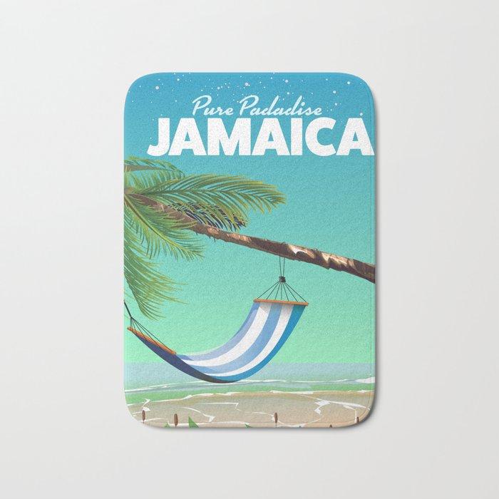'Pure Paradise' Jamaica travel poster Bath Mat