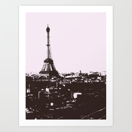 Paris (Black and White) Art Print