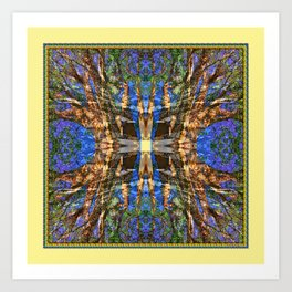 MADRONA TREE MANDALA Art Print