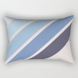 Blue Color Drift Rectangular Pillow