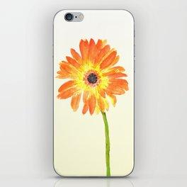 orange gerbera iPhone Skin