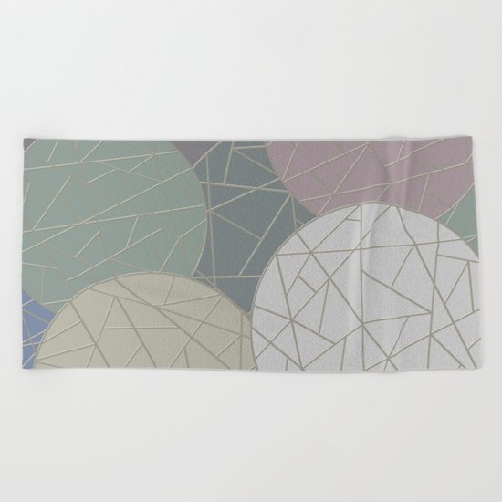THE WORLD IS ROUND (abstract) Beach Towel