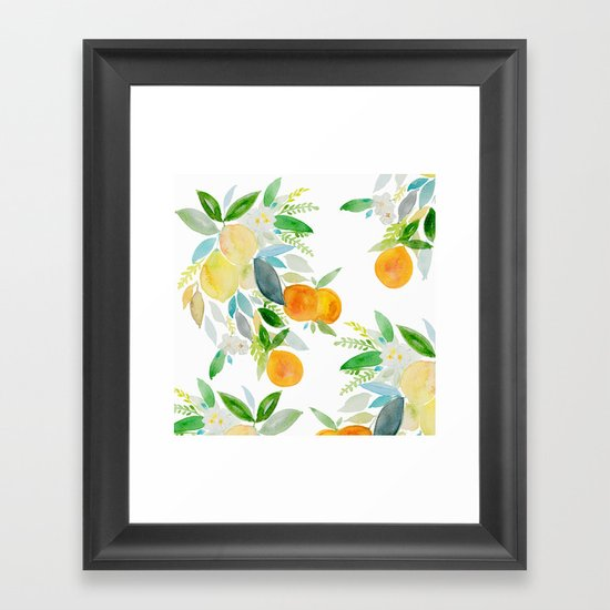 Citrus bouquet Framed Art Print