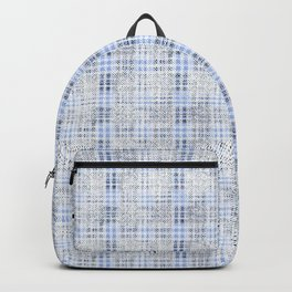 Classical blue with a gray cell. Backpack