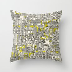 Hong Kong toile de jouy chartreuse Throw Pillow