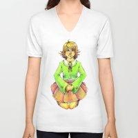 chihiro V-neck T-shirts featuring Chihiro by Mottinthepot