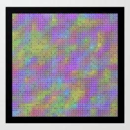 colored tiles Art Print