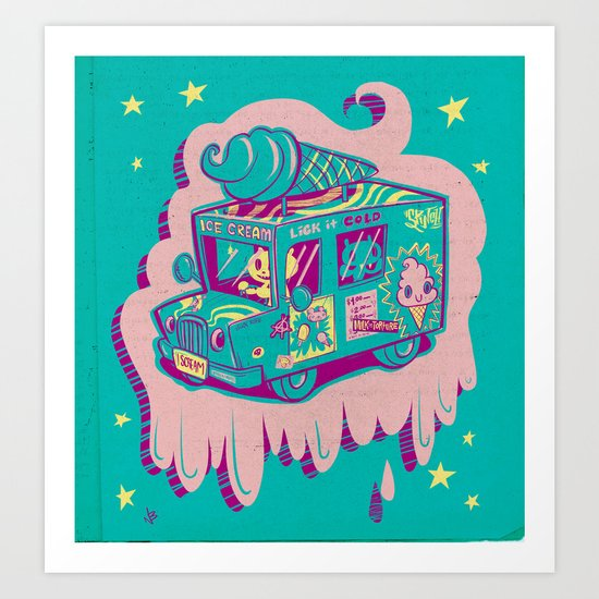 "I Scream ""Truck!"" Art Print"