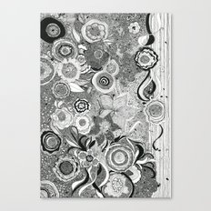 Going With The Flow[er] Canvas Print