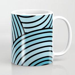 Sea-Blue Circle Pattern Coffee Mug