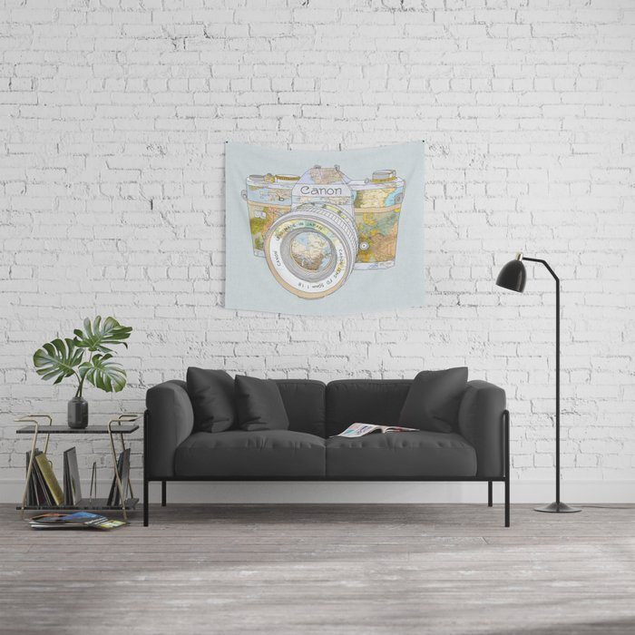 TRAVEL CAN0N Wall Tapestry