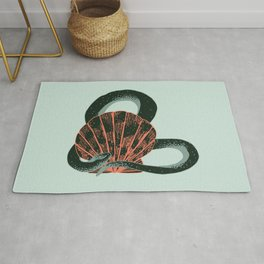 Snake and seashell Rug
