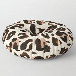 Light Tan Leopard Print Floor Pillow