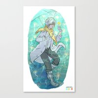 clear Canvas Prints featuring Clear by Aleksandra Chabros aka Adelaida