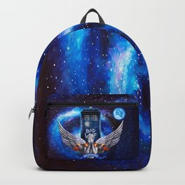 The Angel with Tardis Backpack