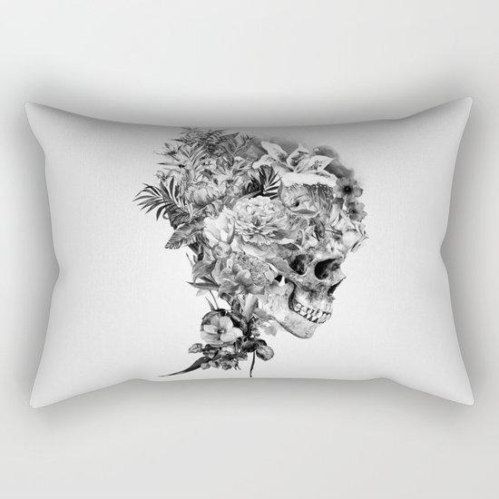 Skull VI BW Rectangular Pillow