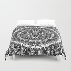 Black and White Mandala Pattern Duvet Cover