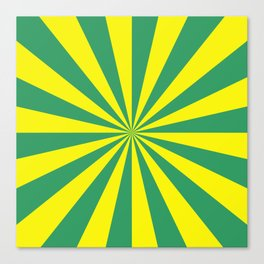 Sunbeams in Green and Yellow Canvas Print