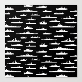 Battleship // Black Canvas Print