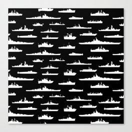 Battleship // Black Canvas Print