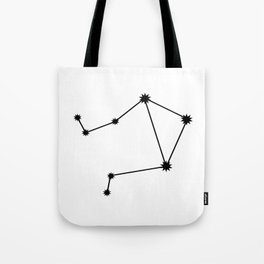 Libra Star Sign Black & White Tote Bag