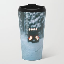 Winter Jeep Travel Mug