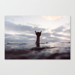 Water Shaka / Hang Loose / Right On / Aloha Canvas Print