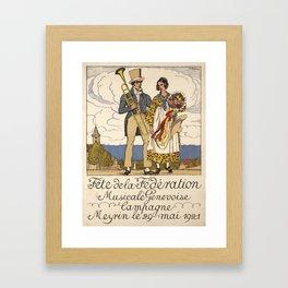 plakat fete de la federation musicale Framed Art Print