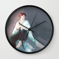 haikyuu Wall Clocks featuring Noragami AU Oikawa by viria