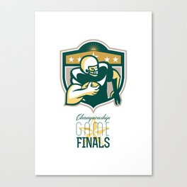 American Football Championship Game Finals QB Canvas Print