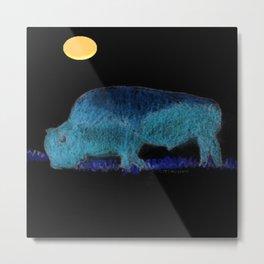 """ Buffalo Moon "" Metal Print"