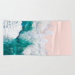 Pink Sand Beach Beach Towel