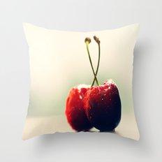 Gourmet cherry Throw Pillow