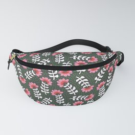 Camelita Retro Folk Flower Fanny Pack