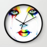 new order Wall Clocks featuring New Order by Isaiah K. Stephens