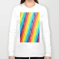 candy Long Sleeve T-shirts featuring Rainbow Candy: Licorice by WhimsyRomance&Fun