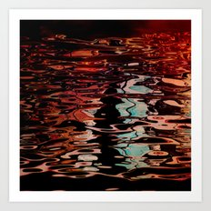Artistic reflection Art Print